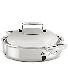 d7 Stainless Steel 4-Qt. Braiser with Domed Lid