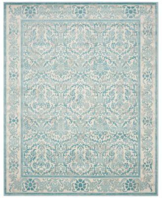 "Evoke EVK242C Ivory/Light Blue 6'7"" x 9' Area Rug"