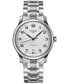Longines Men's Swiss Automatic Master Stainless Steel Bracelet Watch 39mm L26284786
