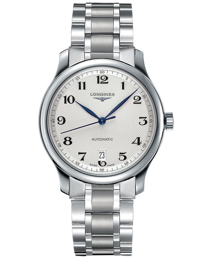 Longines - Watch, Men's Swiss Automatic Master Stainless Steel Bracelet 39mm L26284786