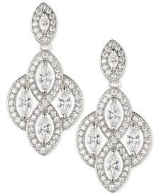 Anne Klein Marquise Crystal Drop Earrings