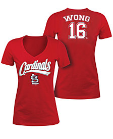 5th & Ocean Women's Kolten Wong St. Louis Cardinals Foil Player T-Shirt
