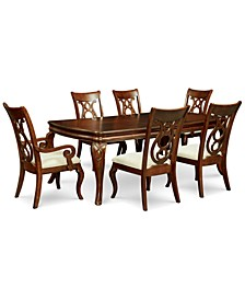 Closeout! Bordeaux 7-Pc. Dining Room Set (Dining Table, 4 Side Chairs & 2 Arm Chairs)