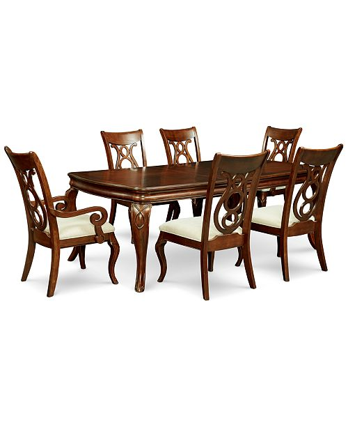 Furniture Bordeaux 7 Pc Dining Room Set Table 4 Side Chairs