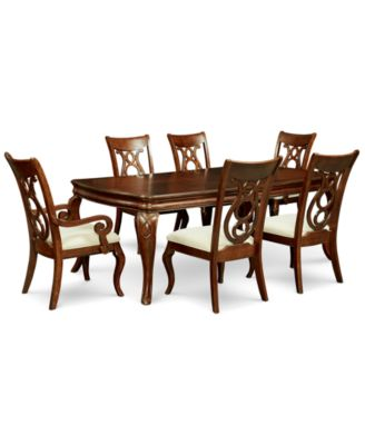 Bordeaux 7 Pc. Dining Room Set (Dining Table, 4 Side Chairs U0026