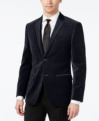 Alfani Velvet Slim-Fit Sport Coat - Blazers & Sport Coats - Men