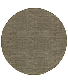 "Oriental Weavers Richmond Casual Grey/Brown 7'10"" Round Rug"