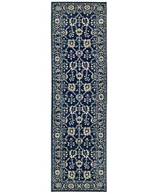 """Oriental Weavers Richmond Fortune Navy/Grey 2'3"""" x 7'6"""" Runner Rug"""