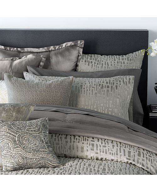 A Textured Look And Allover Print Bring Sophisticated Eal To The Fuse Bedding Collection From Donna Karan Home