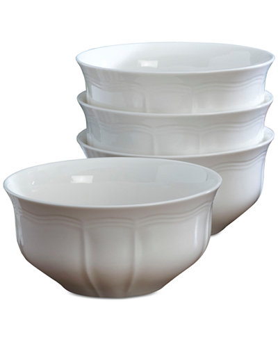 Mikasa Dinnerware Set Of 4 Antique White Cereal Bowls
