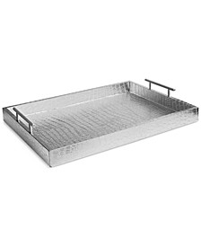 Alligator-Embossed Tray with Metal Handles