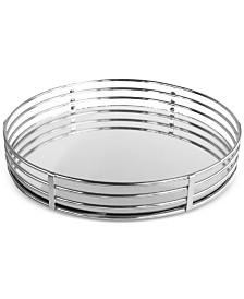 Jay Imports Circle Mirrored Tray