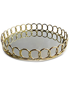 Round Link Mirrored Tray