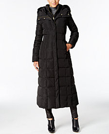 Cole Haan Signature Hooded Down Maxi Puffer Coat