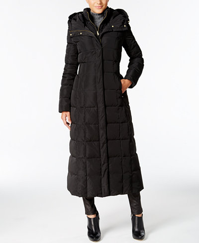 Cole Haan Hooded Down Maxi Puffer Coat Coats Women