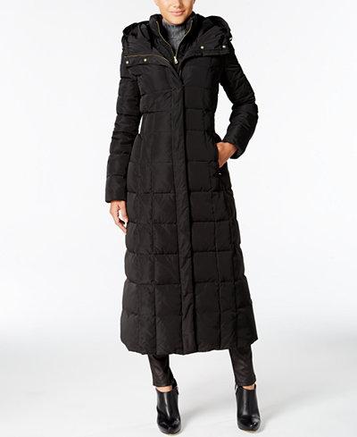 Cole Haan Signature Hooded Down Maxi Puffer Coat - Coats - Women ...