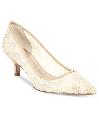 Adrianna Papell Lois Lace Slip-On Pumps 4ptIpXOIZV