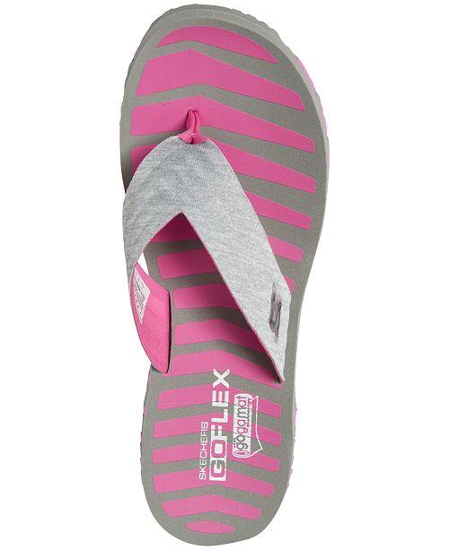 1fcfa55715c3 ... Skechers Women s GO FLEX - Vitality Flip Flop Sandals from Finish ...