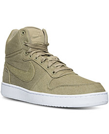 Nike Men's Court Borough Mid Premium Casual Sneakers from Finish Line