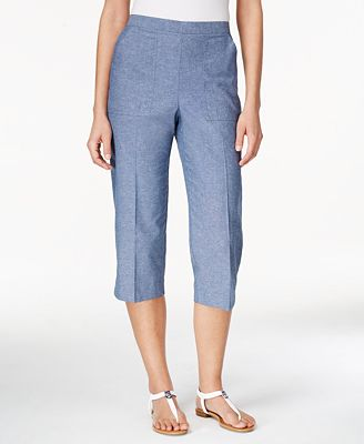Alfred Dunner St. Augustine Collection Cropped Pull-On Pants