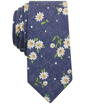 Bar Iii Men S Yogi Fl Skinny Tie Created For Macy