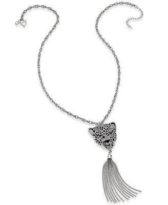 Thalia Sodi Animal Head Tassel Pendant Necklace, Only at