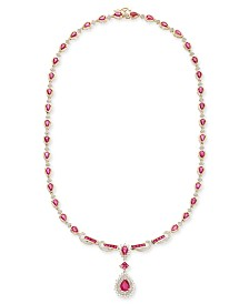 Ruby (13 ct. t.w.) and Diamond (1-1/5 ct. t.w.) Collar Necklace in 14k Gold