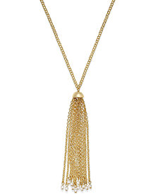 Lauren Ralph Lauren Gold-Tone Long Tassel Pendant Necklace