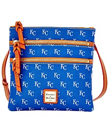 Dooney & Bourke Kansas City Royals Triple Zip Crossbody Bag