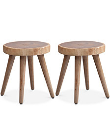 Set of 2 Arcadia Dining Stools, Quick Ship