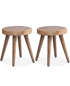 Tavion Set of 2 Dining Stools, Quick Ship