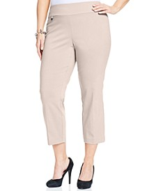 Plus & Petite Plus Size Tummy-Control Capri Pants, Created for Macy's