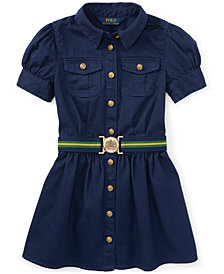 Ralph Lauren Chino Shirtdress, Little Girls