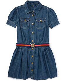 Ralph Lauren Denim Shirtdress, Big Girls