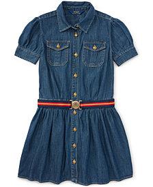 Ralph Lauren Denim Shirtdress, Big Girls