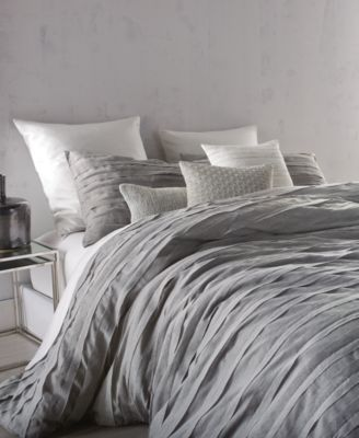 Loft Stripe Gray Full Queen Duvet Cover
