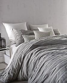 Loft Stripe Gray Full/Queen Duvet Cover