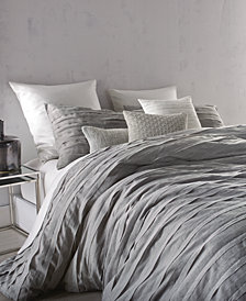 CLOSEOUT! DKNY Loft Stripe Gray Duvet Covers