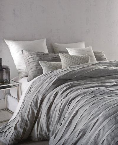 Dkny Loft Stripe Gray Full Queen Duvet Cover