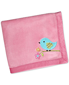 NoJo Love Birds Blanket with Velboa Border