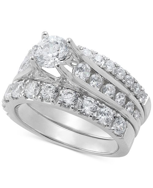 Macy's Diamond Three-Piece Bridal Set (2-1/2 ct. t.w.) in 14k White Gold