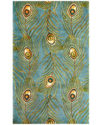 Catalina Peacock Feathers 5' x 8' Area Rug