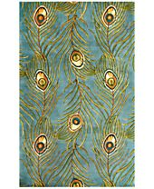 Kas Catalina Peacock Feathers Area Rugs
