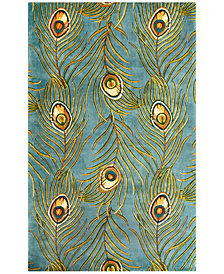 "Kas Catalina Peacock Feathers 30"" x 50"" Area Rug"