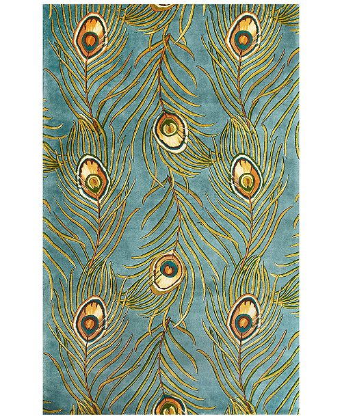 Kas Catalina Peacock Feathers 5' x 8' Area Rug
