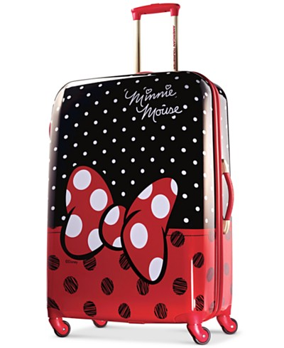 Disney Minnie Mouse Red Bow 28 Hardside Spinner Suitcase by American Tourister