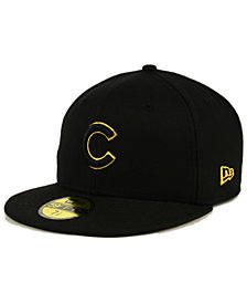 New Era Chicago Cubs Black On Metallic Gold 59FIFTY Fitted Cap