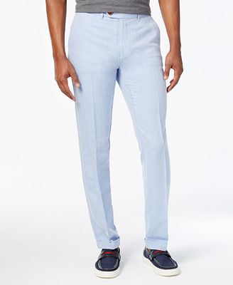Tommy Hilfiger Men's Slim-Fit Steven Linen Pants - Pants - Men ...
