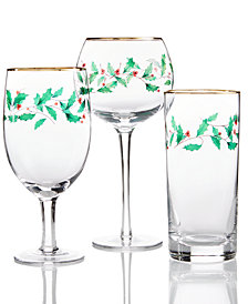 Lenox Holiday Set of 4 Drinkware Collection