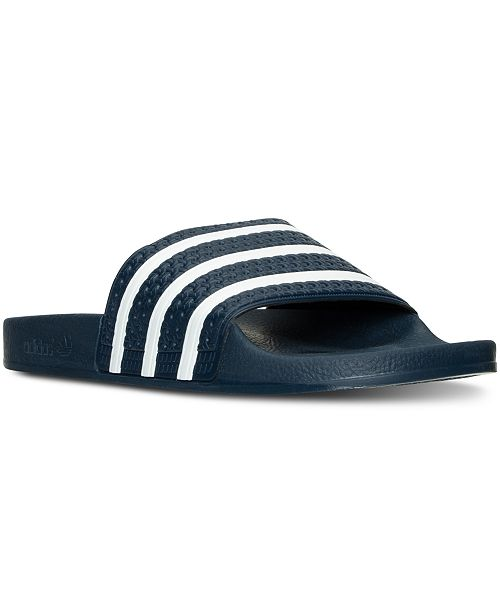 5c4a1a3971b49 adidas Men's Adilette Slide Sandals from Finish Line & Reviews - All ...